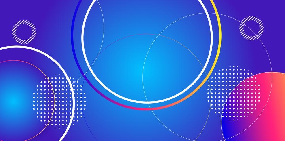 Couleurs primaires Abstrait Motif circulaire Fond vecteur