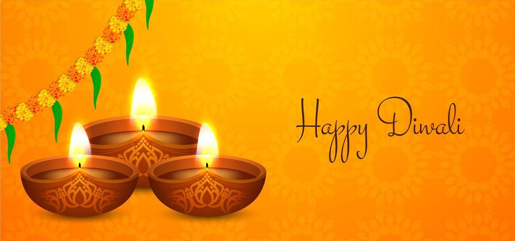 Joyeux design religieux de Diwali vecteur