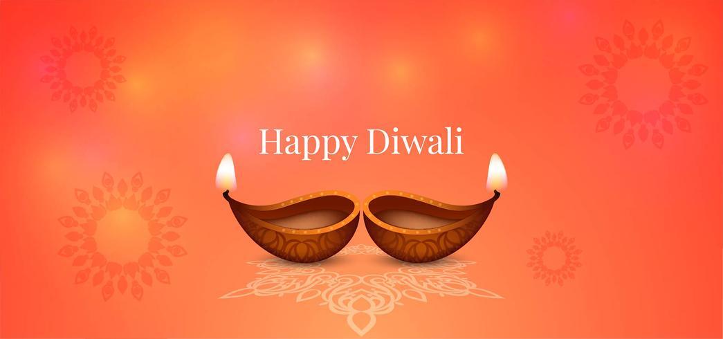 Joyeux Diwali brillant design brillant vecteur
