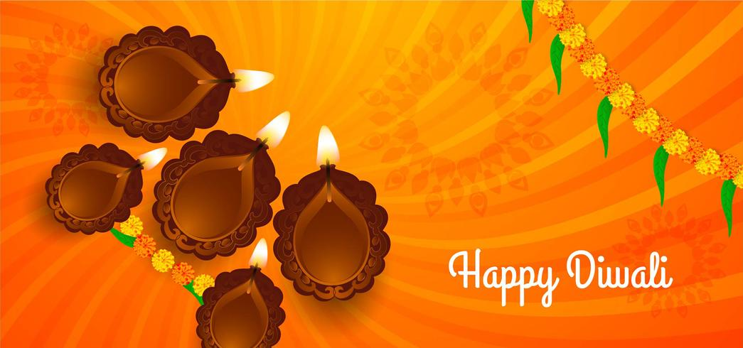 Conception du festival indien heureux Diwali vecteur