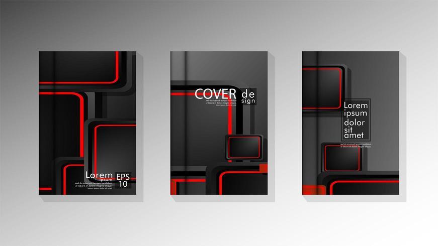Collection de vecteur d'arrière-plans de couverture de livre