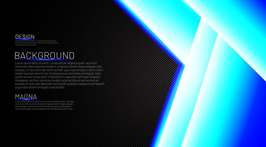 Triangle bleu technologie concept abstrait vecteur
