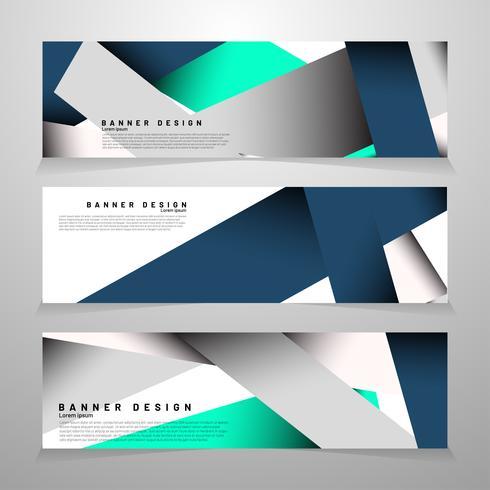 rectangle de bannières minimaliste vecteur