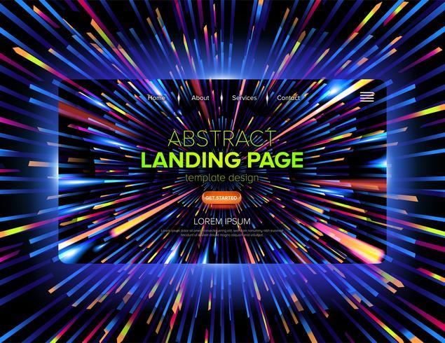 Design de page d'atterrissage futuriste dynamique vecteur
