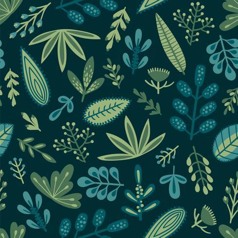 Modèle sans couture botanique vecteur