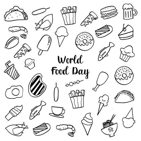 Journée mondiale de l'alimentation vecteur