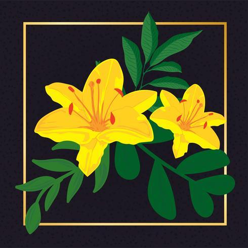 Belle fleur floral vecteur