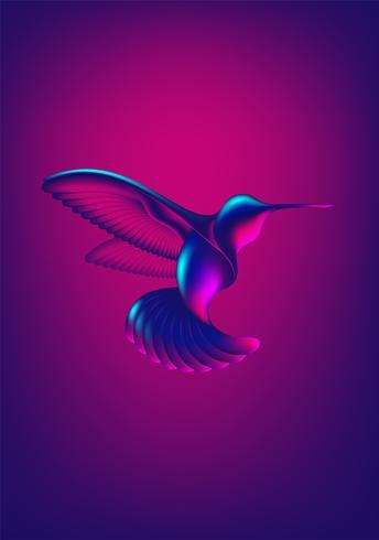 Forme abstraite colibri vecteur