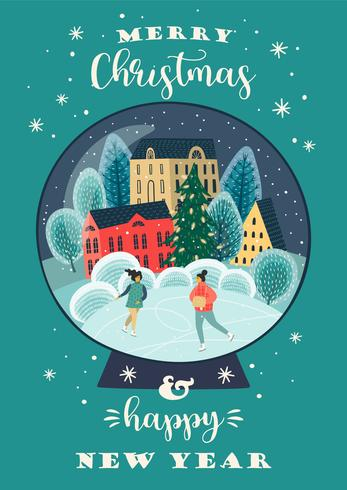 Illustration de Noël et bonne année vecteur