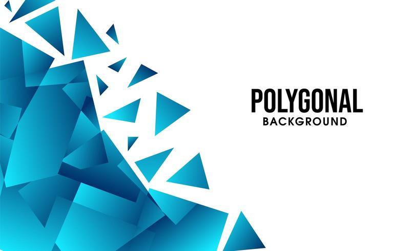 Abstrait bleu polygonale vecteur