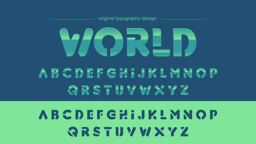 Typographie Sports Sports Bleu Bleu Chrome vecteur