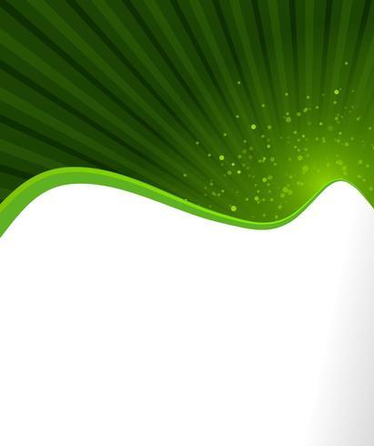 Couverture de flyer naturelle abstraite verte vecteur