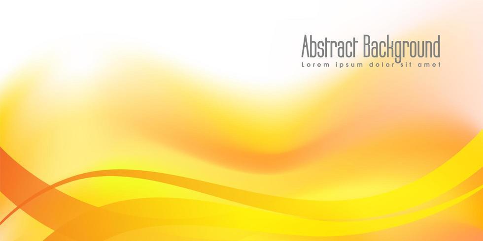 Fond de bannière abstraite jaune vecteur