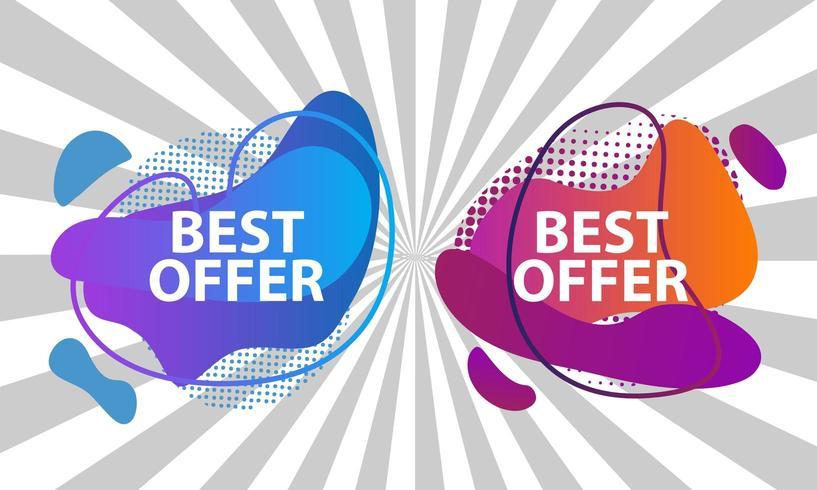 Vecteur meilleur offre vente design avec fond