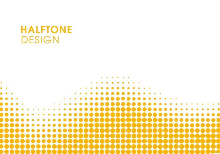 Demi-ton abstrait jaune vecteur