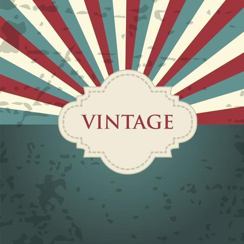 Fond grunge vintage avec sunburst vecteur