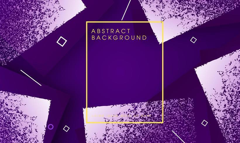 Dynamique abstrait coloré avec des éléments géométriques vecteur