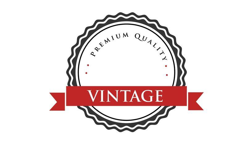 Conception d'insigne noir Vintage minime vecteur