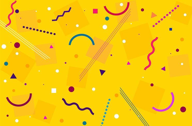 Motif abstrait jaune moderne vecteur