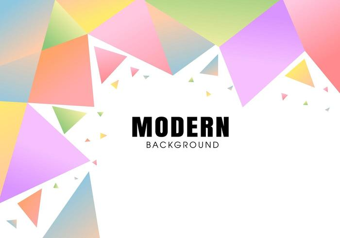Moderne abstrait polygonale coloré vecteur
