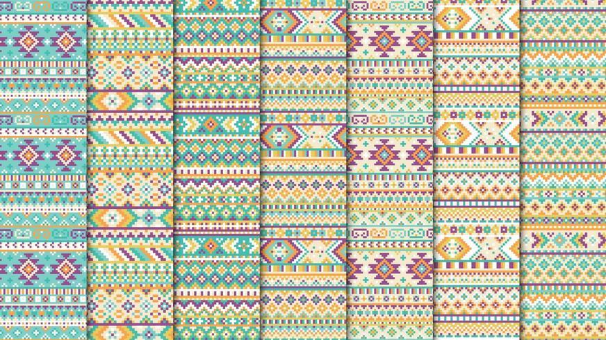 Modèle sans couture ethnique aztèque vecteur