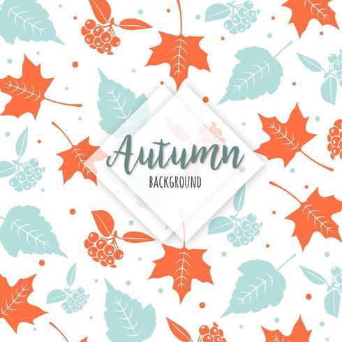 Beau fond d'automne coloré de feuilles vecteur