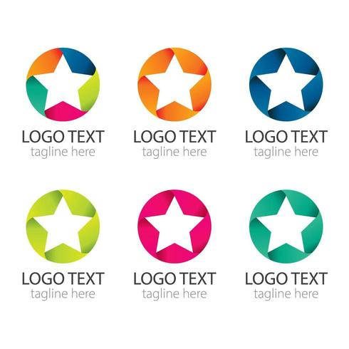 Collection de logo étoile colorée vecteur