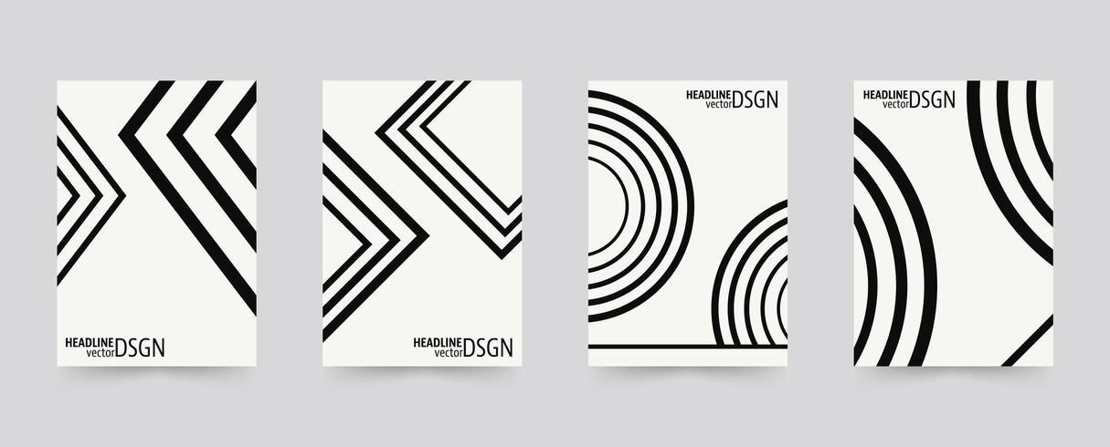 Formes géométriques Ensemble de modèles de couverture de brochure vecteur