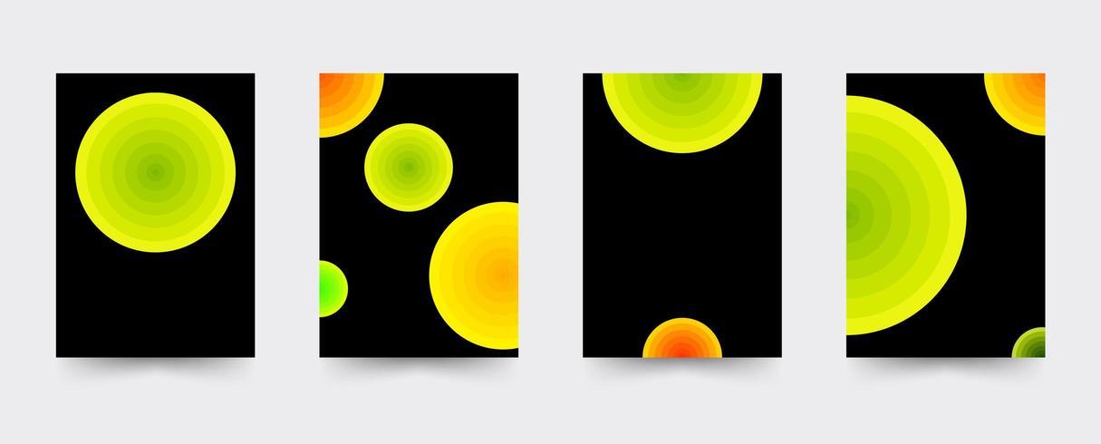 Ensemble de modèles de couverture de brochures de cercles vecteur