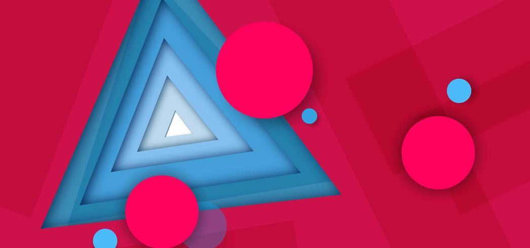 Abstrait triangle rouge vecteur