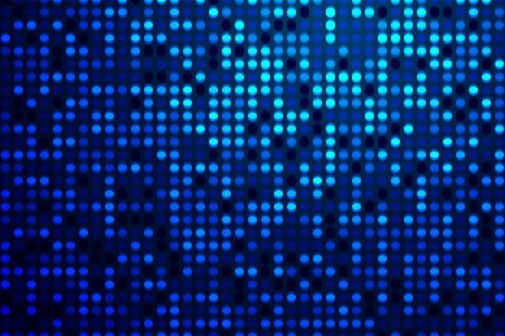 Motif de pois technologiques dégradés de bleu vecteur