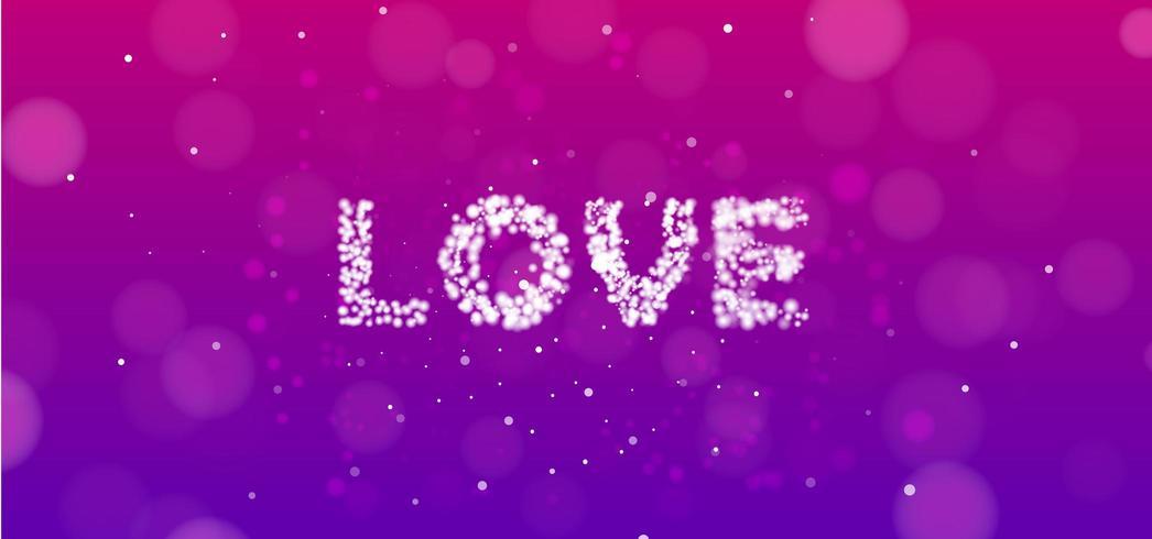 Bannière d'amour rose et violet vecteur