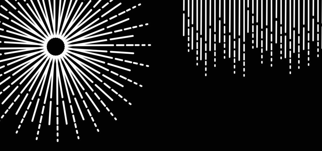 Abstrait de la ligne circulaire blanche vecteur