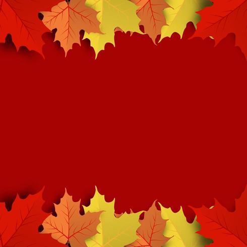 Fond de feuille d'érable automne coloré vecteur