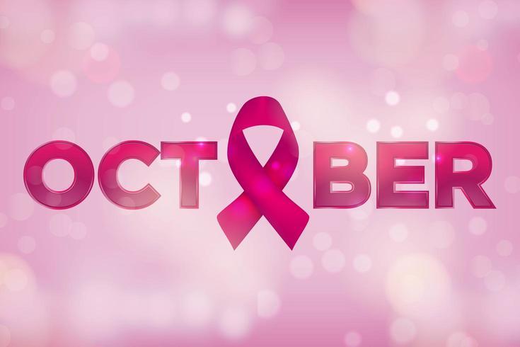 Octobre mois de sensibilisation au cancer du sein vecteur