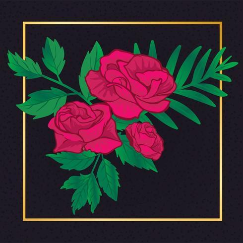 Belle rose florale vecteur