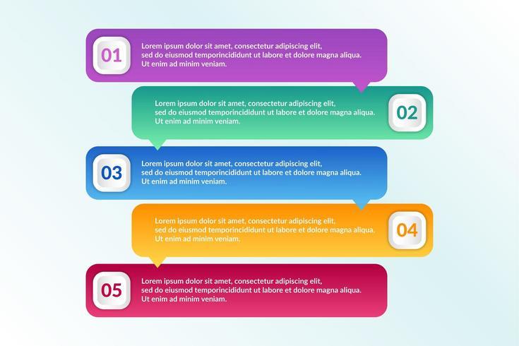 Conception infographique avec 6 options d'icônes ou étapes vecteur