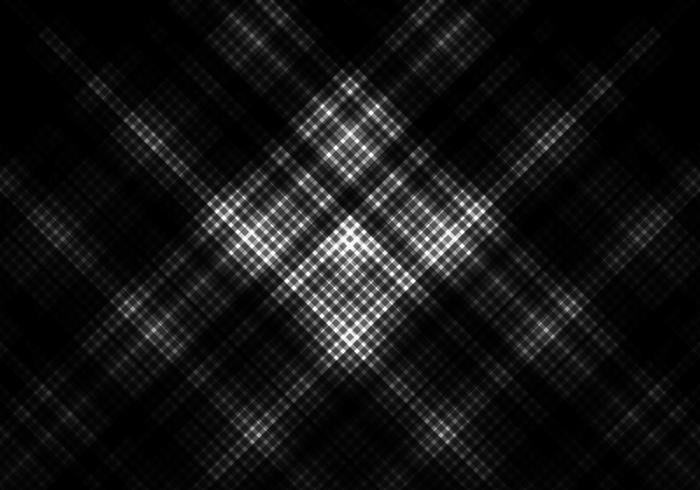 fond de couleur noir et blanc avec grille carrée vecteur