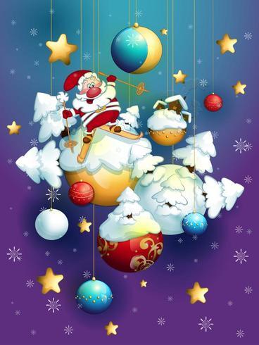 Carte de voeux pour Noël vecteur