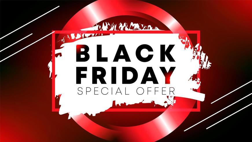 Black Friday offre spéciale conception de la mise en page bannière vecteur