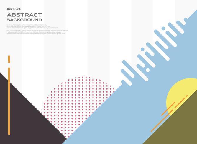 Motif graphique géométrique rétro coloré abstrait vecteur