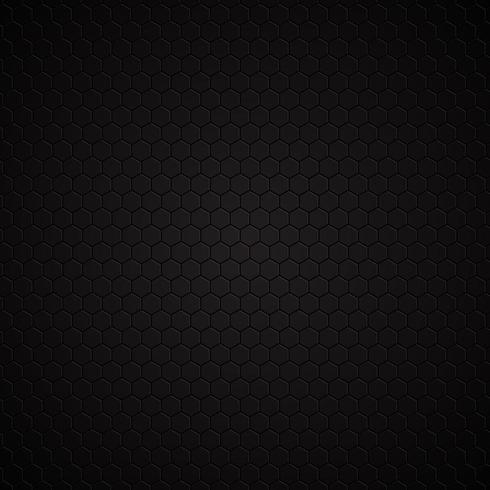 Fond noir hexagonal vecteur
