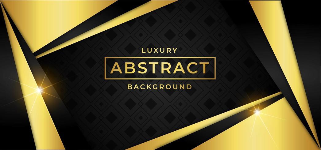 Fond de luxe avec des formes de triangle d'or vecteur
