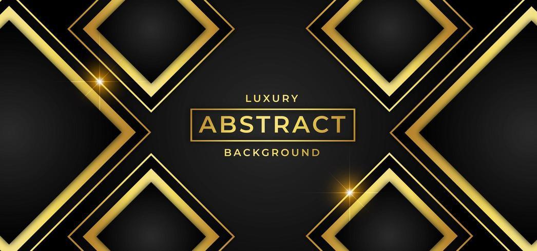 Fond de luxe avec des formes de diamants d'or vecteur
