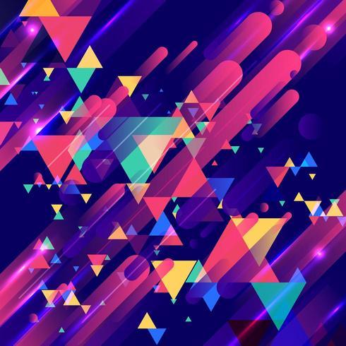 Éléments colorés et motif de triangles superposés créatifs modernes vecteur