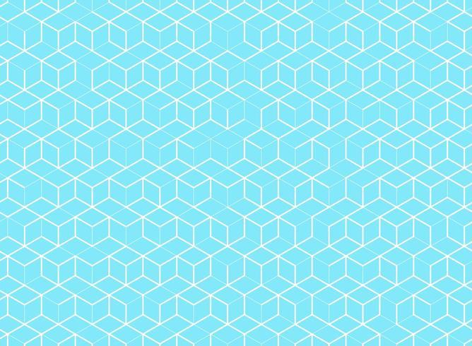 Modèle de cube abstrait sur fond bleu vecteur