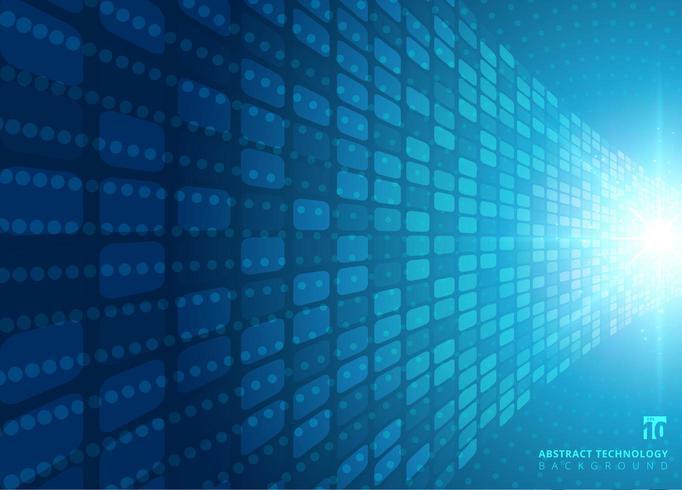 Concept technologique abstrait avec une lumière radiale de néon bleu vecteur