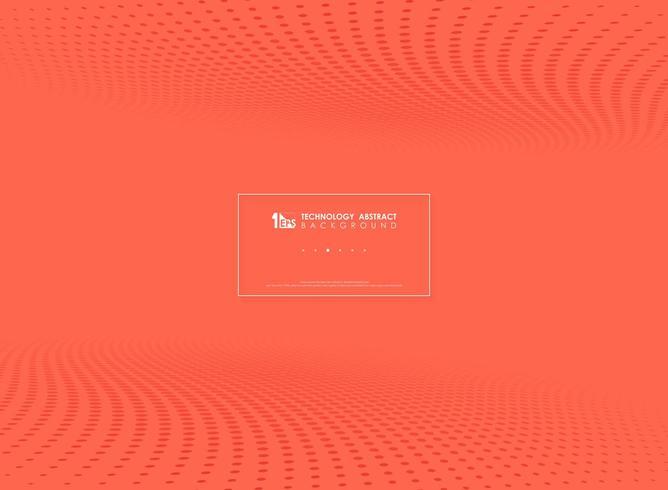 Cercle tech moderne rouge points de fond de demi-teintes vecteur