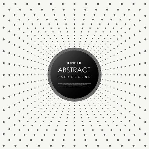 Motif de points noirs de perspective radiale abstraite vecteur