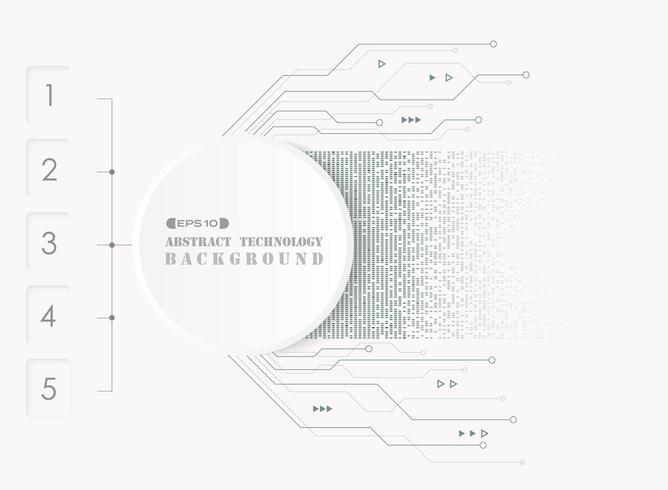 Abstrait de système futuriste électronique vecteur